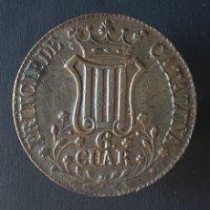 Monedas de España: ISABEL II-6 CUARTOS-1841-CATALUÑA-MBC+. N057. Lote 235470920