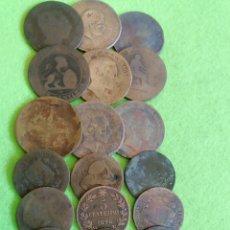 Monedas de España: LOTE DE 20 MONEDAS DE COBRE VARIOS AÑOS Y ESTADOS DE CONSERVACIÓN. Lote 235475430