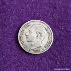 Monedas de España: MONEDA DE 50 CENTIMOS DE ALFONSO XII. BUSTO GRANDE. PLATA. 1880 *8-0. ESPAÑA. ORIGINAL.. Lote 235504350