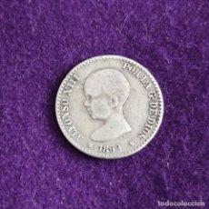 Monedas de España: MONEDA DE 50 CENTIMOS DE ALFONSO XIII. PLATA. 1892 *2-2. RARA. ESPAÑA. ORIGINAL.. Lote 235505070