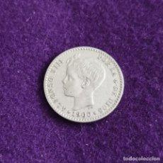 Monedas de España: MONEDA DE 50 CENTIMOS DE ALFONSO XIII. PLATA. 1900 *0-0. ESPAÑA. ORIGINAL.. Lote 235506035