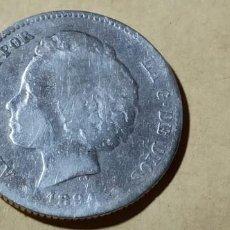 Monedas de España: ESPAÑA ALFONSO XIII 1894 XX PGV 1 PESETA SILVER RARA 3006. Lote 235584575