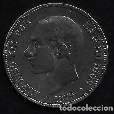 Monedas de España: MONEDA DE 2 PESETAS - PLATA - ALFONSO XII - 1879. Lote 235815565