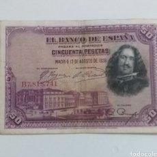 Monedas de España: BILLETE 50 PESETAS MADRID 1928. Lote 235826665