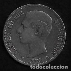 Monedas de España: MONEDA DE 1 PESETA - PLATA - ALFONSO XII -- 1876. Lote 235840725