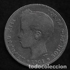 Monedas de España: MONEDA DE 1 PESETA - PLATA - ALFONSO XII -- 1901. Lote 235843780