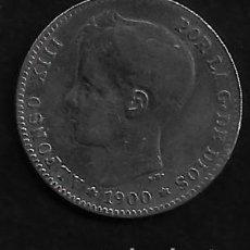 Monedas de España: MONEDA DE 1 PESETA - PLATA - ALFONSO XII -- 1900. Lote 235849925