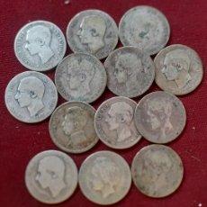 Monedas de España: 13 MONEDAS DE PESETA DE PLATA. Lote 235977000