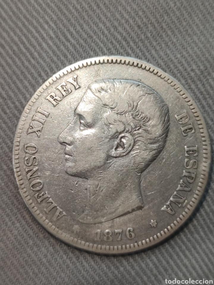 5 PESETAS 1876 ESPAÑA (Numismática - España Modernas y Contemporáneas - De Isabel II (1.834) a Alfonso XIII (1.931))
