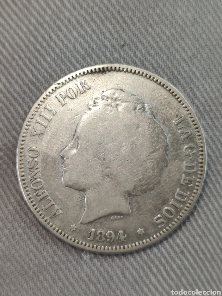 5 PESETAS 1894 ESPAÑA (Numismática - España Modernas y Contemporáneas - De Isabel II (1.834) a Alfonso XIII (1.931))