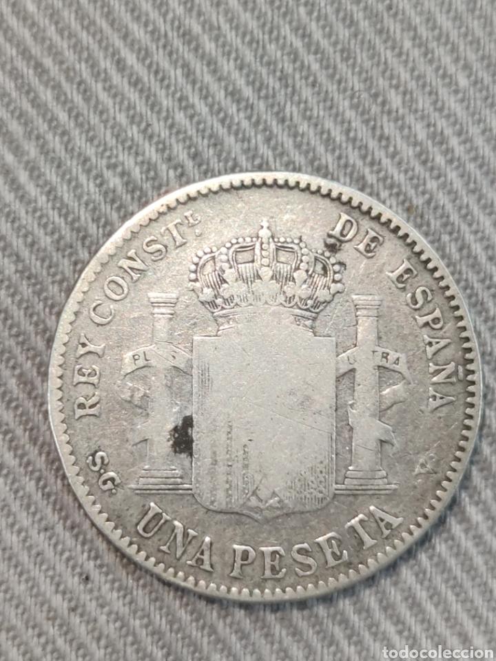 Monedas de España: 1 peseta 1899 España - Foto 2 - 236362585