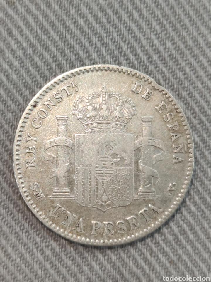Monedas de España: 1 peseta 1901 Estrellas 19*01* España - Foto 2 - 236363155