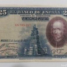 Moedas de Espanha: BILLETE DE 25 PESETAS 1928. Lote 236661170