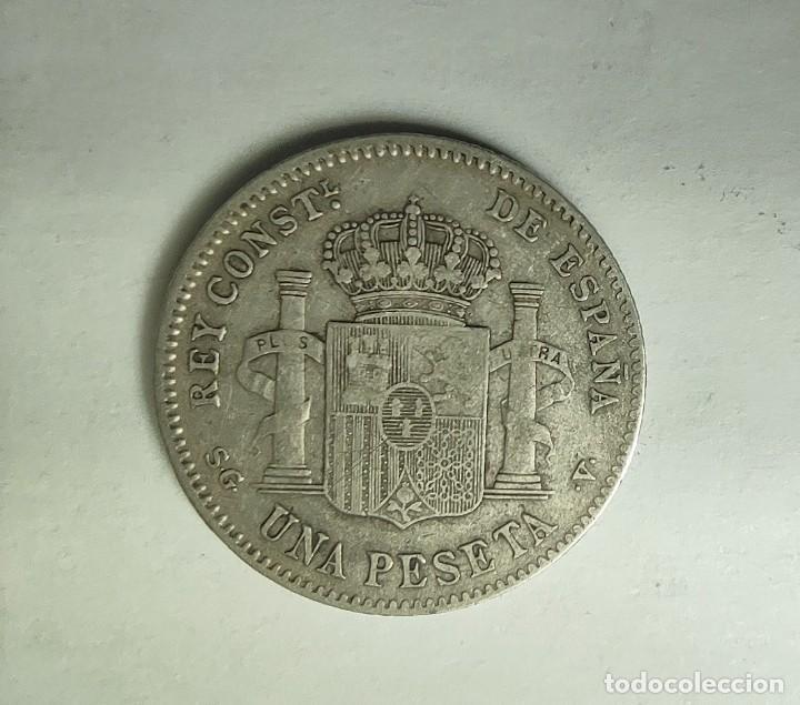 Monedas de España: ESPAÑA 1 PESETA 1899 SG V ESTRELLAS 1-* 99 * muy flojas Alfonso XIII PLATA ¡¡LIQUIDACION COLECION - Foto 3 - 236690775