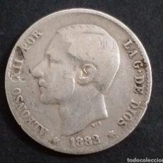 Monedas de España: UNA PESETA DE PLATA 1882 ALFONSO XII. Lote 236841680