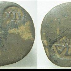 Monedas de España: MONEDA CON 2 RESELLOS A XII Y A VIII DE BURGOS. Lote 236859020