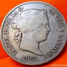 Monedas de España: ESPAÑA, 20 REALES, 1862. ISABEI II. MADRID. PLATA. (776). Lote 237010270