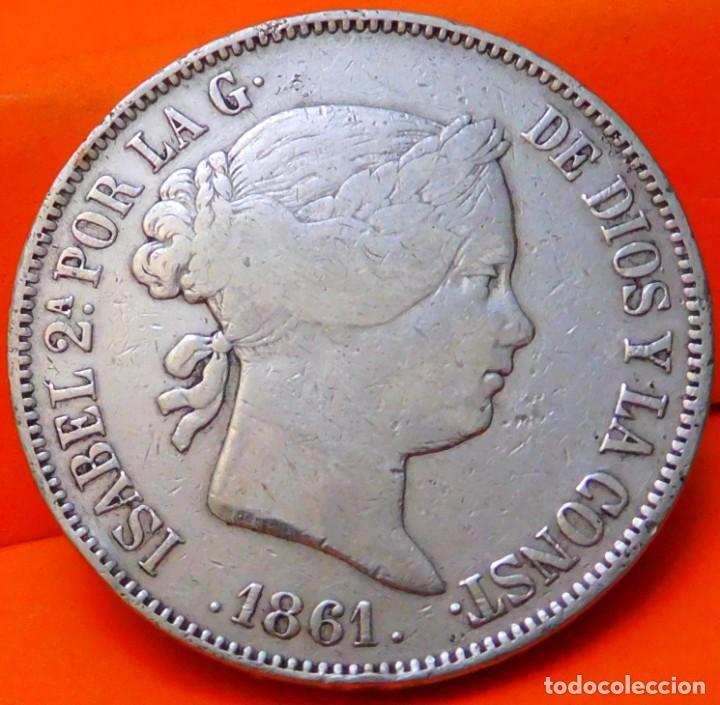 ESPAÑA, 20 REALES, 1861. ISABEI II. MADRID. PLATA. (777) (Numismática - España Modernas y Contemporáneas - De Isabel II (1.834) a Alfonso XIII (1.931))