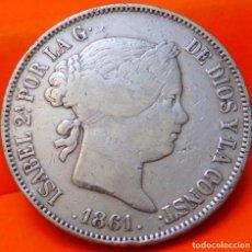 Monedas de España: ESPAÑA, 20 REALES, 1861. ISABEI II. MADRID. PLATA. (777). Lote 237011390