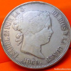 Monedas de España: ESPAÑA, 20 REALES, 1860. ISABEI II. MADRID. PLATA. (781). Lote 237014300