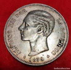 Monedas de España: MONEDA PLATA 5 PESETAS ALFONSO XII DURO DE PLATA 1879 ESTRELLAS VISIBLES 18 79 MBC+ ORIGINAL D2807. Lote 237132980