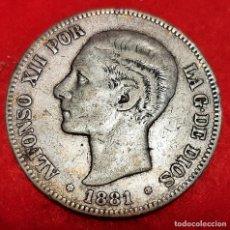 Monedas de España: MONEDA PLATA 5 PESETAS ALFONSO XII DURO DE PLATA 1881 ESTRELLAS VISIBLES 18 81 MBC ORIGINAL D2808. Lote 237133440