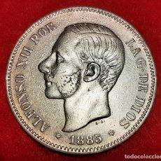Monedas de España: MONEDA PLATA 5 PESETAS ALFONSO XII DURO DE PLATA 1885 ESTRELLAS VISIBLES 18 85 MBC++ ORIGINAL D2815. Lote 237135465