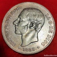Monedas de España: MONEDA PLATA 5 PESETAS ALFONSO XII DURO DE PLATA 1885 ESTRELLAS VISIBLES 18 86 MBC++ ORIGINAL D2816. Lote 237135845