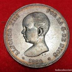 Monedas de España: MONEDA PLATA 5 PESETAS ALFONSO XIII DURO DE PLATA 1888 ESTRELLAS VISIBLES 18 88 MBC++ ORIGINAL D2817. Lote 237136075