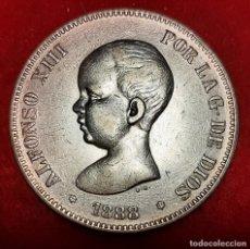 Monedas de España: MONEDA PLATA 5 PESETAS ALFONSO XIII DURO DE PLATA 1888 ESTRELLAS VISIBLES 18 88 MBC++ ORIGINAL D2819. Lote 237138715