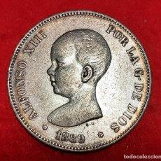 Monedas de España: MONEDA PLATA 5 PESETAS ALFONSO XIII DURO DE PLATA 1889 ESTRELLAS VISIBLES 18 89 MBC++ ORIGINAL D2821. Lote 237139540