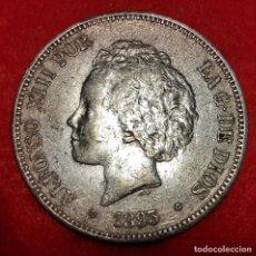 Monedas de España: MONEDA PLATA 5 PESETAS ALFONSO XIII DURO DE PLATA 1893 ESTRELLAS VISIBLES 18 93 MBC+ ORIGINAL D2832. Lote 237147085