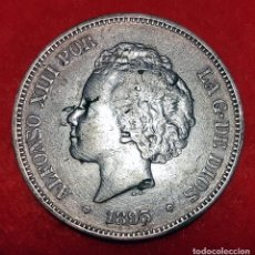 Monedas de España: MONEDA PLATA 5 PESETAS ALFONSO XIII DURO DE PLATA 1893 ESTRELLAS VISIBLES 18 93 MBC+ ORIGINAL D2833. Lote 237147280