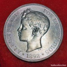 Monedas de España: MONEDA PLATA 5 PESETAS ALFONSO XIII DURO DE PLATA 1898 ESTRELLAS VISIBLES 18 98 EBC ORIGINAL D2839. Lote 237149395