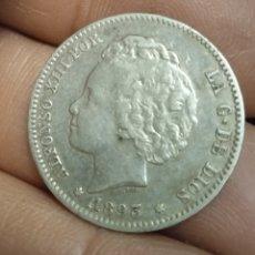 Monedas de España: PLATA MONEDA DE 1 PESETA 1893. Lote 237202710