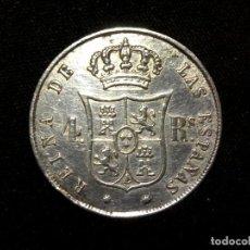 Monedas de España: 4 REALES 1860 SEVILLA ISABEL II ESPAÑA PLATA. Lote 237299535