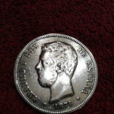 Monedas de España: MONEDA DE PLATA 5PTS1871 SDM AMADEO L. Lote 237345160
