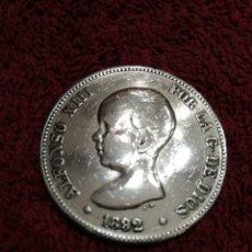 Monedas de España: MONEDA DE PLATA PGM 1892 ALFONSO XIII. Lote 237345985
