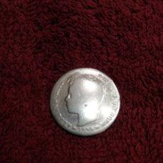 Monedas de España: 1 PTS ALFONSO XIII DE PLATA 1896. Lote 237348030