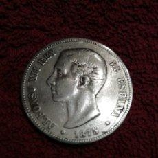 Monedas de España: MONEDA DE PLATA ALFONSO XLL 1875 DEM. Lote 237454675