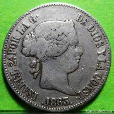 Monedas de España: ISABEL II, 10 REALES, 1863, MADRID, AUREO & CALICO.-540, MBC-, AG. Lote 237481900