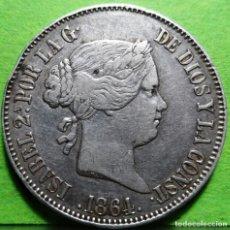 Monedas de España: ISABEL II, 10 REALES, 1864, MADRID, AUREO & CALICO.-541, MBC+, AG. Lote 237482165