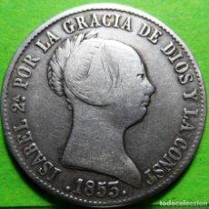 Monedas de España: ISABEL II, 10 REALES, 1853, SEVILLA, AUREO & CALICO.-550, MBC-, AG. Lote 237482370