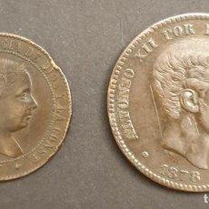 Monedas de España: LOTE 2 MONEDAS. 2,5 CÉNTIMOS DE ESCUDO ISABEL II 1867 Y 10 CÉNTIMOS ALFONSO XII 1878.. Lote 237502560