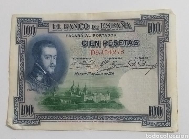 BILLETE 100 PESETAS 1925 FELIPE LL (Numismática - España Modernas y Contemporáneas - De Isabel II (1.834) a Alfonso XIII (1.931))