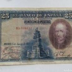 Monedas de España: BILLETE 25 PESETAS 1928 CALDERÓN DE LA BARCA. Lote 237757890