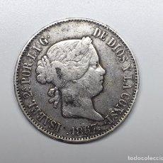 Monedas de España: MONEDA DE 1 ESCUDO DE PLATA - ISABEL II - AÑO 1867. Lote 237825680