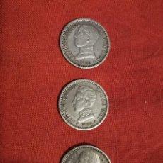 Monedas de España: 3 MONEDAS DE ALFONSO XIII. 50 CT. PLATA. 1904 Y 1910. Lote 238701595