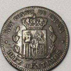 Monedas de España: 10 CÉNTIMOS 1879-ALFONSO XII -OM- BC+. Lote 239825590