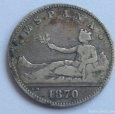 Monedas de España: 1 PESETA 1870*73 (MBC-). Lote 239979395